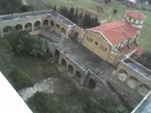 Jardín trasero del Hospital del Tórax