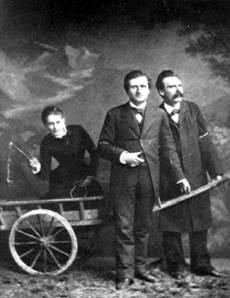 Lou Andreas-Salomé, Paul Rée y Friedrich Nietzche