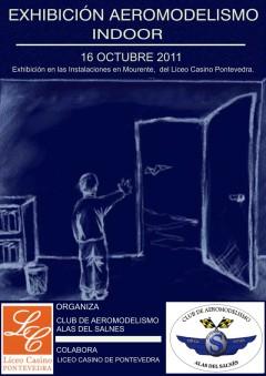 Exhibición de aeromodelismo indoor en Pontevedra